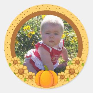 Wiffles Autumn Photo  Envelope Seal 1 Classic Round Sticker