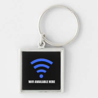 Wifi Available Here Keychain