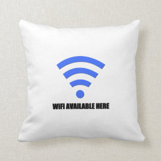 Wifi Available Here Pillow