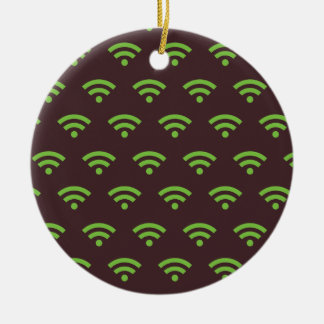 WiFi brown green Christmas Ornaments
