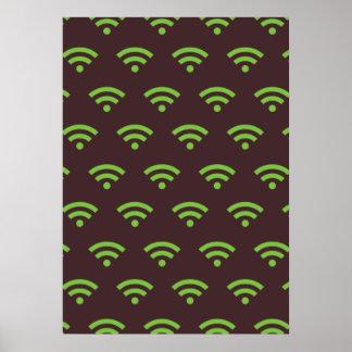WiFi brown green Poster