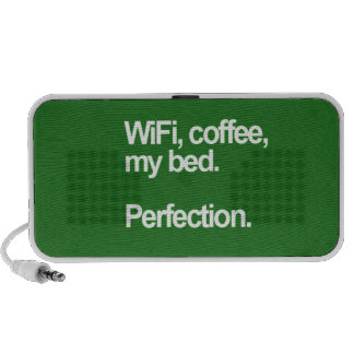 WiFi coffee my bed perfection happiness cute funn Notebook Speaker