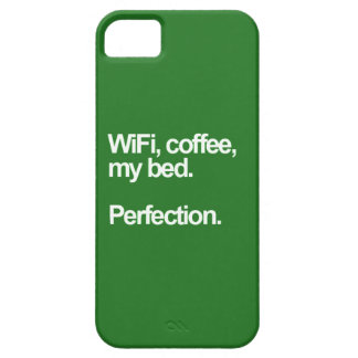 WiFi coffee my bed perfection happiness cute funn iPhone 5 Cover