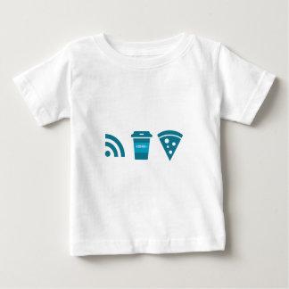 Wifi-Coffee-Pizza Baby T-Shirt