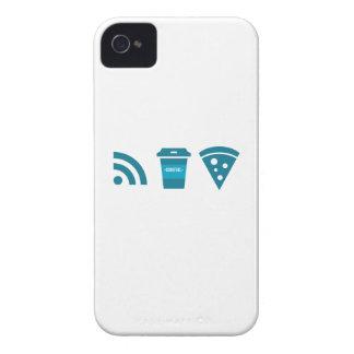 Wifi-Coffee-Pizza iPhone 4 Case