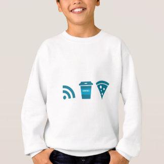 Wifi-Coffee-Pizza Sweatshirt