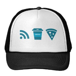 Wifi-Coffee-Pizza Trucker Hat