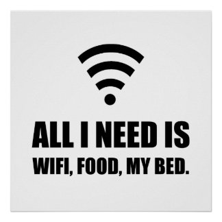 Wifi Food My Bed Poster