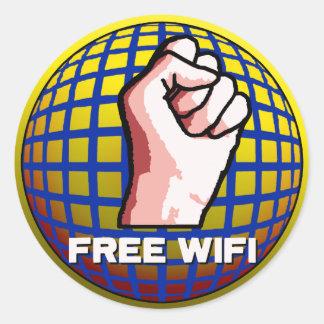 WiFi libre Pegatina Redonda
