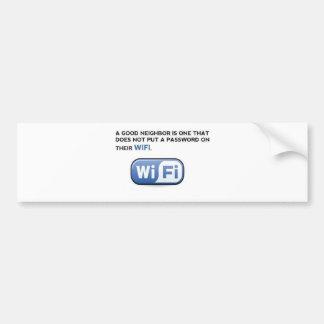 WIFI. neighbour Bumper Sticker
