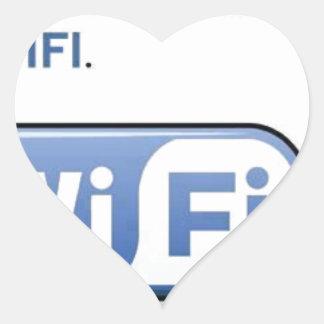 WIFI. neighbour Heart Sticker