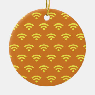Wifi orange and yellows christmas ornament