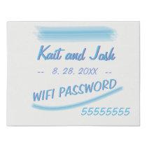 WIFI Password Sign Minimalist Soft Ambiance Blue