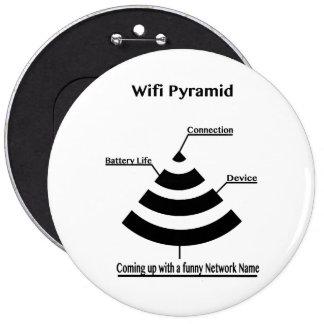 Wifi Pyramid Pinback Button