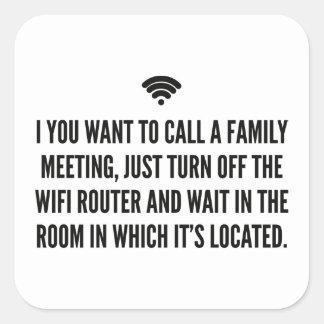 Wifi Router Square Sticker