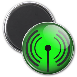 WiFi Symbol 2 Inch Round Magnet
