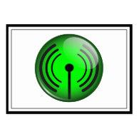 WiFi Symbol Business Card Template