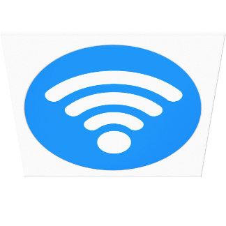 Wifi Symbol Canvas Print