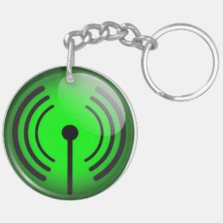 WiFi Symbol Double-Sided Round Acrylic Keychain