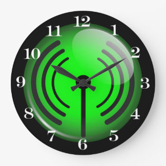 WiFi Symbol Large Clock