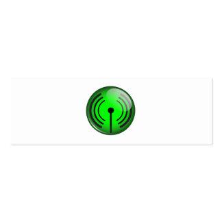 WiFi Symbol Mini Business Card