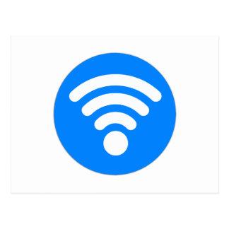 Wifi Symbol Postcard