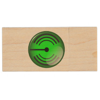 WiFi Symbol Wood USB Flash Drive