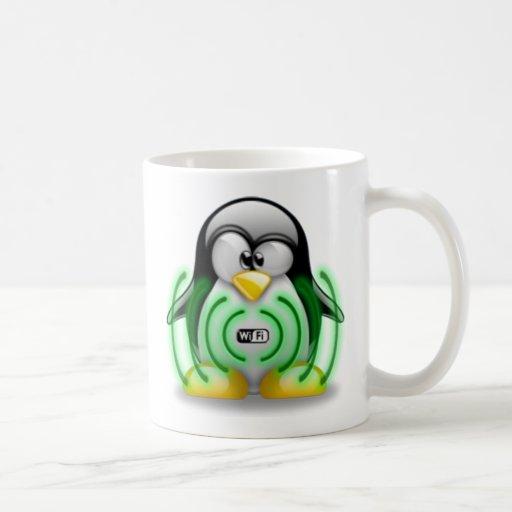 Wifi Tux Classic White Coffee Mug