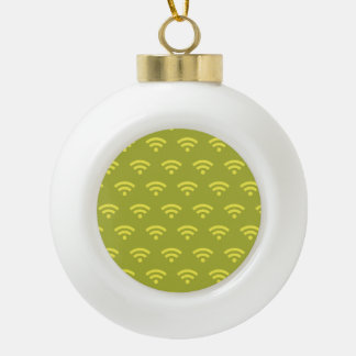 Wifi yellows ornaments