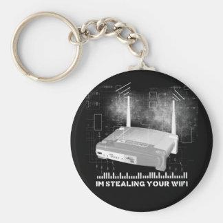 wifitheifblack basic round button keychain