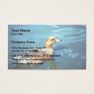 Wigeon eurasiático tarjetas de visita