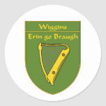 Wiggins 1798 Flag Shield Round Sticker