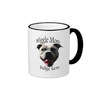 """Wiggle More, Judge Less"" coffee mug"
