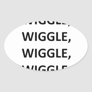 Wiggle Oval Stickers