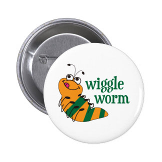 Wiggle Worm Pinback Buttons