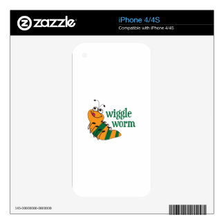 Wiggle Worm Decals For The iPhone 4S