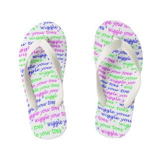 Wiggle Your Toes! -- Kids Flip-Flops Kid's Flip Flops