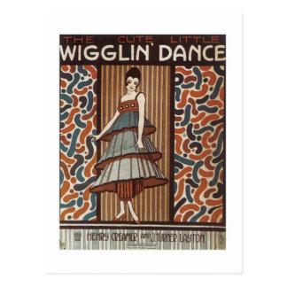 Wigglin' Dance Vintage Songbook Cover Postcard