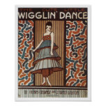 Wigglin' Dance Vintage Songbook Cover Poster