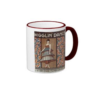 Wigglin' Dance Vintage Songbook Cover Ringer Mug