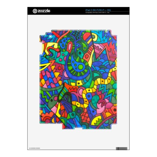 Wiggly yellow worm decal for the iPad 2