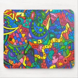 Wiggly yellow worm mouse pad