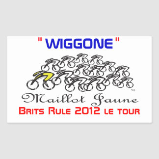 wiggo rectangular sticker