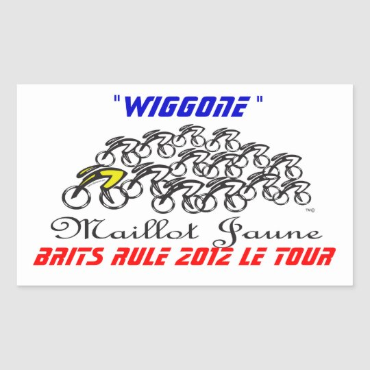 wiggo rectangular sticker