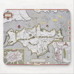 Wight Island, engraved by Jodocus Hondius Mouse Pad