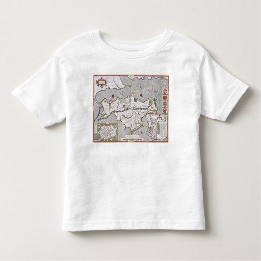 Wight Island, engraved by Jodocus Hondius Toddler T-shirt