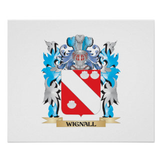 Wignall Coat of Arms - Family Crest Poster