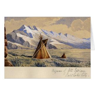 Wigwam of Ute Indians, Salt Lake City Greeting Cards