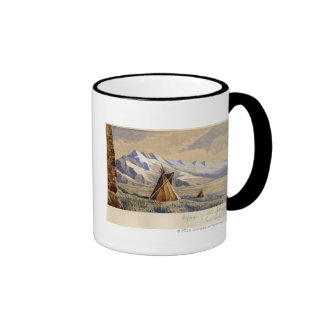 Wigwam of Ute Indians, Salt Lake City Ringer Coffee Mug