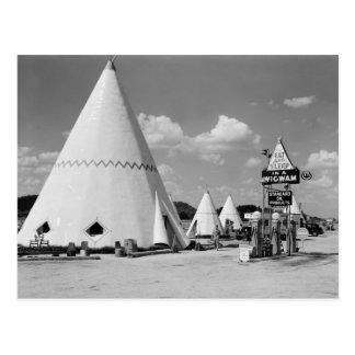 Wigwam Village, Cave City, Kentucky: 1940 Postcard